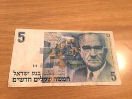 Un Billet De  5 New Sheqalim Israel  1987 - Israel
