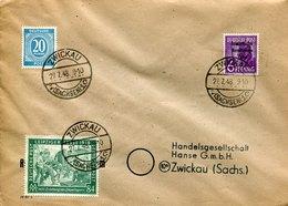 41371 Germany Sowiet Occupation, Cover Circuled 1948 From Zwickau To Zwickau - Sowjetische Zone (SBZ)