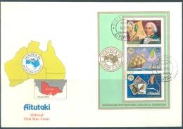 AITUTAKI - 14.9.1984 - FDC - AUSIPEX - Yv BLOC 50 - Lot 18856 - Aitutaki
