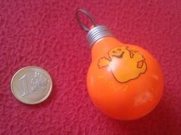 LLAVERO KEYRING KEYCHAIN PORTE-CLÉS LIGHTBULB BOMBILLA LAMPE AMPOULE LUZ ENERGÍA LIGHT BULB BOMBILLAS CON FANTASMA VER - Otras Colecciones