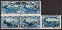 España 0789/790 (*) Defensa De Madrid. 1938. Sin Goma - 1931-50 Nuevos & Fijasellos