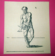 COMBAT WITH KNIFE  IMMAGINE DA CARTACEO D'EPOCA PICTURE OF VINTAGE PAPER - Victorian Die-cuts