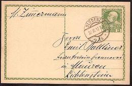 Austria Autriche Österreich: PK 5 HELLER (Type 1908) Mit O BLUDENZ 4.III.08 Nach Mauren (Fürstentum Liechtenstein) - Liechtenstein