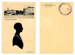 CARTONCINO/CARTOLINA CON SILOUETTE APPLICATA -AUTORE BAJ. B-1924 LIDO VENEZIA (3/42) - Silhouettes