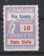 Vico Equense. Marca Municipale Diritti Stato Civile L. 10 - Otros