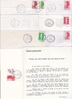 Lot 8 Lettres Oblitération PARIS 46 Baptisé PARIS GONCOURT Rue Des Goncourt : TàD Manuel SECAP - Marcofilia (sobres)
