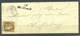 ENVELOPPE DE MEILLEZALL 1851 - Marcophilie (Lettres)