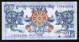 Bhutan 2006, 1 Ngultrum - UNC, Kassenfrisch - Népal