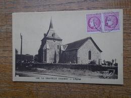 """Carte Assez Rare , La Gravelle , L'église """""""" Beaux Petits Timbres """""""" - France"""