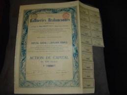 """Action """"Raffineries Brabançonnes""""Molenbeek Saint Jean 1913. - Industrie"""