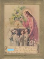 9135-RICORDO DELLA PRIMA COMUNIONE-CHIESA DI PONTECURONE(AL)-1939 - Cromo