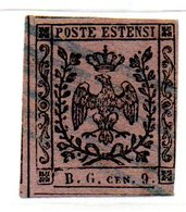 ASI63b - MODENA 1853 , Tasse Giornali  N. 2 Usato Con Punto Dopo La Cifra. - Modena