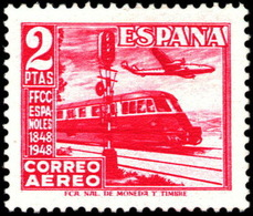 España 1039 ** Ferrocarriles. 1948 - 1931-50 Nuevos & Fijasellos