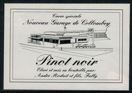 Rare // Etiquette De Vin // Voitures //  Pinot Noir, Garage De Collombey - Voitures