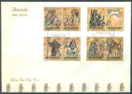 AITUTAKI - 14.10.1977 - FDC - CHRISTMAS - Yv 205-212 - Lot 18858 - Aitutaki