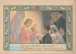 9136-RICORDO DELLA PRIMA COMUNIONE-CHIESA DI PONTECURONE(AL)-1946 - Cromo