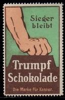 CHOCOLAT - TRUMPF - ERINNOPHILIE - SCULPTURE / VIGNETTE ILLUSTREE  (ref 7979k) - Vignetten (Erinnophilie)