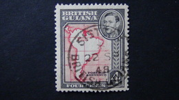 British Guiana - Map Of South America - 1938 - Mi:GY 178A, Sn:GB-GY 232a, Yt:GY 164 O - Look Scan - Geographie