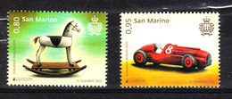 San Marino - 2015. Europa. Giocattoli:Cavallo A Dondolo, Automobilina Rocking Horse, Toy Car. Complete MNH Set - Giochi