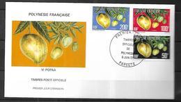 Polynésie Française Fdc   09  06  1977 à Papeete Cat Yt   N° LOT De Service - Service