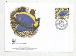 Premier Jour D'émission ,FDC , WWF , ASCENSION ISLAND,poisson, Resplendent Angelfish, 23.03.2007 - Ascension (Ile De L')