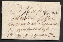 1767 - LAC - VESOUL 29mm X 4mm (Haute Saone) - Marcophilie (Lettres)