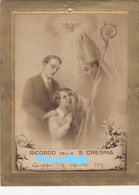 9137-RICORDO DELLA S.CRESIMA-CHIESA DI GROPPO-1917 - Cromo
