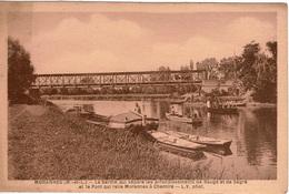 Cpa 49 MORANNES La Sarthe Qui Sépare Les Arr.de Baugé Et De Ségré Et Le Pont Qui Relie Morannes à Chemiré,animée, Vierge - France