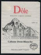 Rare // Etiquette De Vin // Montagne // Dôle, Cabane Dent-Blanche - Montagnes