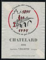Rare // Etiquette De Vin // Musique // Villette, Chorale Des Employés Des Chemins De Fer Lausanne - Musique