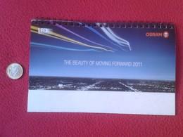 SPAIN CALENDARIO DE MESA CALENDAR BOMBILLA LIGHTBULB LUZ ELÉCTRICA AMPOULE LIGHT BULB BOMBILLAS OSRAM 2011 LED VER FOTOS - Calendarios