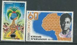 Congo N° 513 / 14  X    Les 2  Valeurs Trace De Charnière Sinon TB - Non Classés