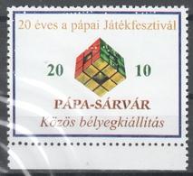 Rubik's Rubik Magic Cube TOY PLAY - Pápa / Sárvár Game Festival - LABEL CINDERELLA VIGNETTE - Autres