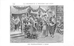 PHARMACIE  - PHARMACIEN- THEME; LA PHARMACIE à TRAVERS LES ÂGES - LES PHARMACOTRIBES à ROME -TRES BEL ETAT - Health