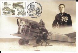 TP CENTENAIRE PREMIERE GUERRE MONDIALE 1914 - 1918 - MICHEL COIFFARD MAURICE BOYAU - 4 TP OBLITERES PREMIER JOUR - Airmail