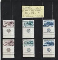 ISRAEL - 1967 - 3 Timbres NEUF - Du 330 Au 332 + 3 Oblitérés - En L'état -.voir Les 2 Scannes - Israel