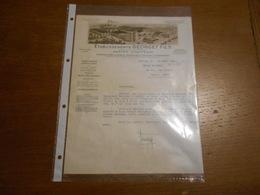 """Lettre """"Et. Georget Et Fifs"""" Nantes Chantenay (vernis Couleurs Encres Imprimerie) 1937 - Lettres De Change"""