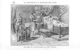 PHARMACIE  - PHARMACIEN- THEME; LA PHARMACIE à TRAVERS LES ÂGES - LE MIRE ET L' APOTHICAIRES AU XIII°-TRES BEL ETAT - Santé