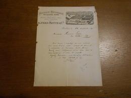 """Lettre """"Alfred Motte Et Cie"""" Peignage Mécanique De Laines Fines Textile  Roubaix 1891 - Lettres De Change"""