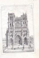 AMIENS La Cathédrale Vue Sur Carte Porcelaine Format CDV éditée Par F. LABAT D'Amiens - Images Religieuses