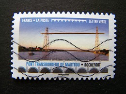 N°1477 PONT TRANSBORDEUR DE MARTROU ROCHEFORT OBLITERE ANNEE 2017 SERIE DU CARNET PONTS ET VIADUCS AUTOCOLLANT ADHESIF - France