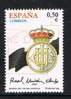 Spain SG3857 2002 Real Union Irun Football Club 50c Good/fine Used [8/10138/6D] - 1931-Today: 2nd Rep - ... Juan Carlos I