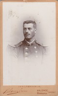 Photo : C.D.V. : Soldat : 75é Regt. Romans -sur-isère - Drome -( Photo. - Blain-fréres : N° 7813 - Valence - Drome ) - Guerre, Militaire