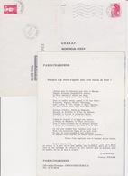 Lot 3 Lettres Oblitération Dont Guichet Annexe PARIS 59 AN1 SAINT BLAISE : TàD Manuel SECAP Encart - Marcofilia (sobres)