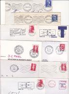 Lot 10 Lettres Oblitération PARIS 66 Baptisé PARIS ALESIA Rue D'Alésia : TàD Manuel KRAG SECAP EMA - Marcofilia (sobres)