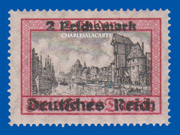 GERMANY 3 REICH  1939  DANZIG STAMP OVERPRINT 2 RM  MICHEL 729  U.M.  NO HINGE N.S.C. - Allemagne