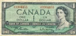 CANADA One  Dollar 1954 - Canada