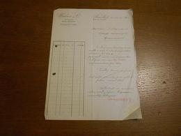 Facture Wanner Et Cie Bruxelles 1906 Envoyée à M.Flamant Tissage Mécanique Grammont - Imprenta & Papelería