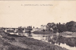 78. CHATOU . CPA. LE PONT DE CHATOU. ANNEE 1933 - Chatou