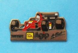 1 PIN'S  //   ** F1 / FERRARI / AGIP / N°1 // Alain PROST ** . (Dimo) - Ferrari